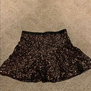 Express gold sequin mini skirt
